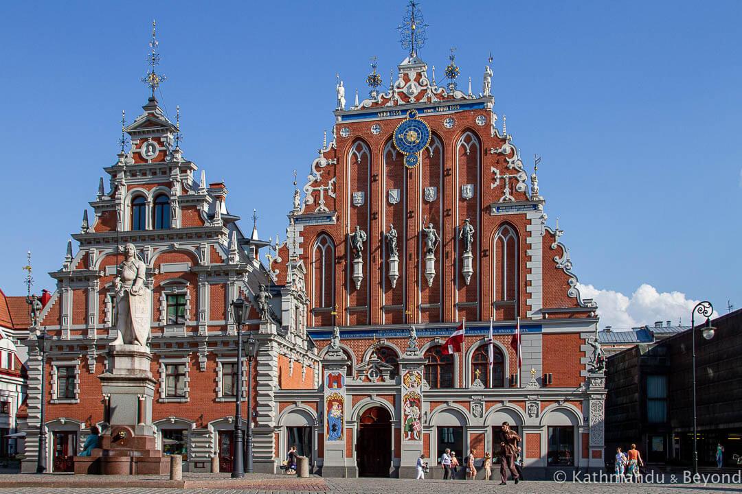 The House of Blackheads in Ratslaukums Square in Riga, Lativa