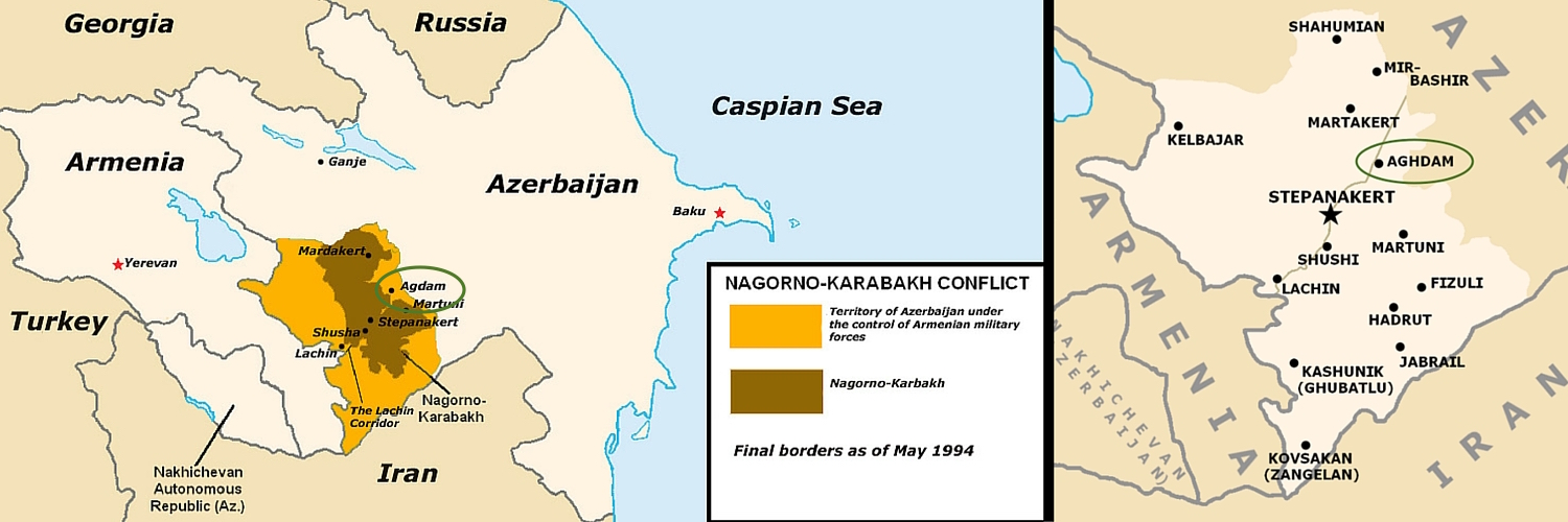 Location of Agdam | Nagorno Karabakh