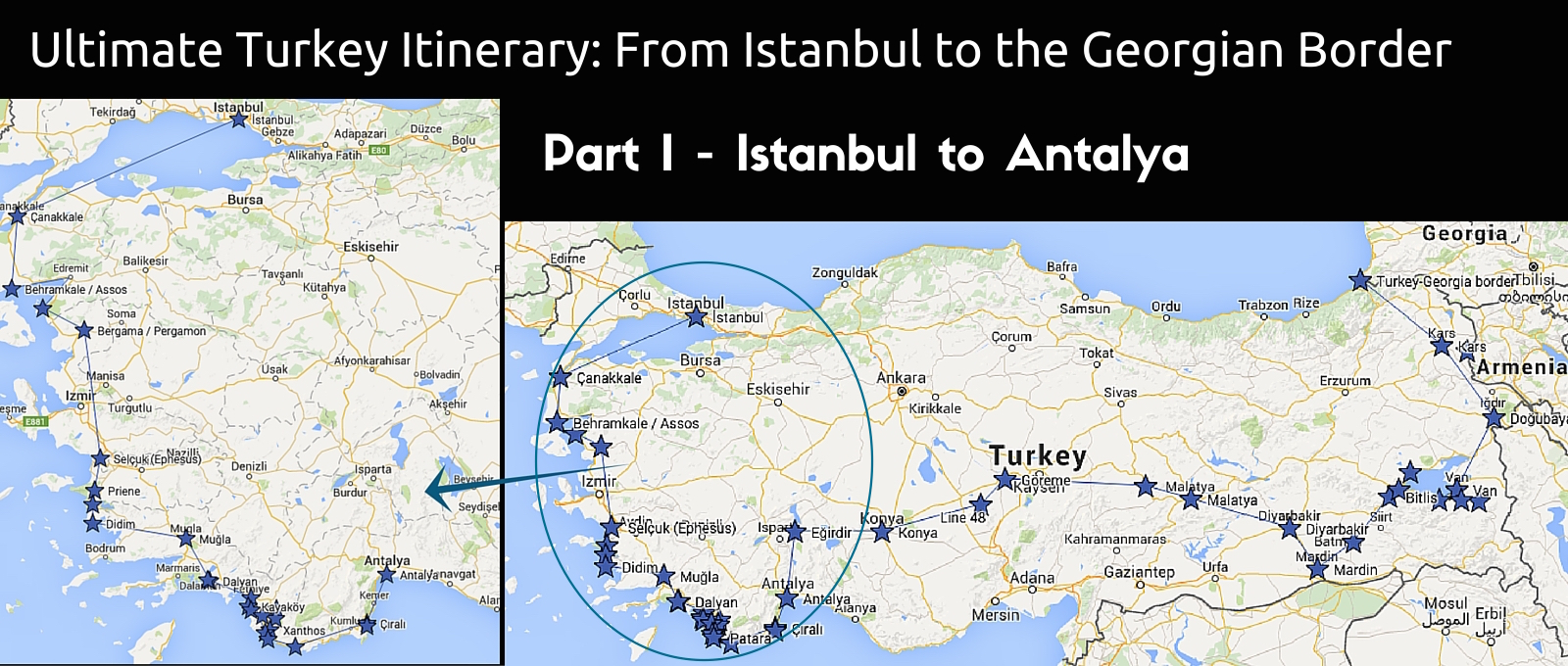 Istanbul to Antalya route | Ultimate Turkey itinerary