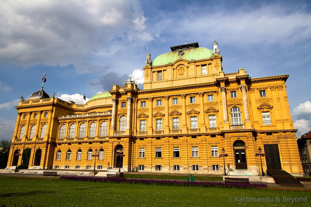 Croatian National Theatre Marshal Tito Trg Zagreb Croatia | Longterm Travel