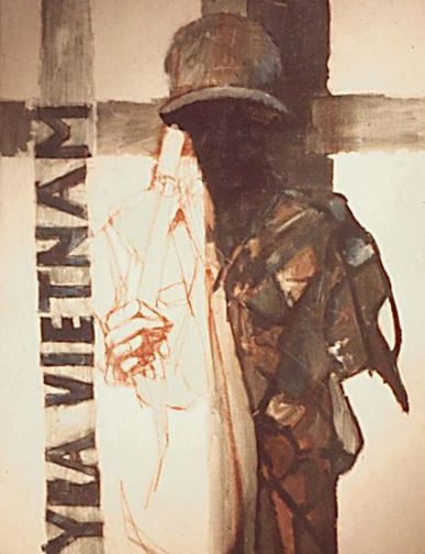 Vietnam Combat Art by David Fairrington, 1968