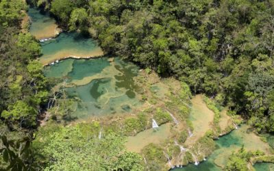 Travel Shot| Looking down on Semuc Champey in Guatemala