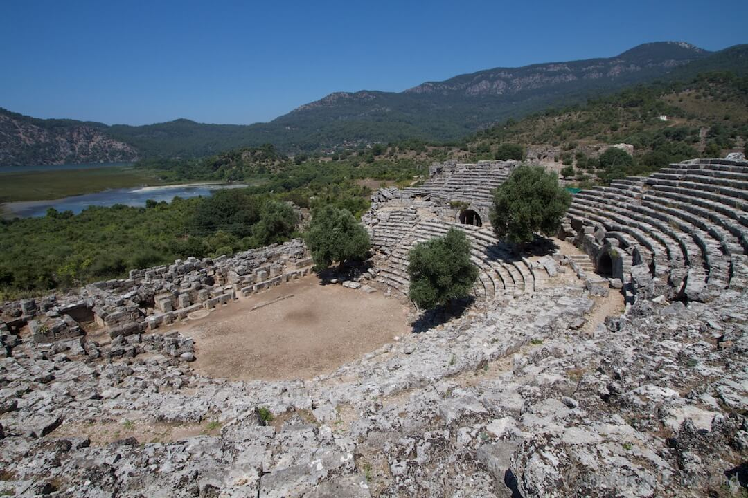 Theatre Kaunos Dalyan Turkey (1)