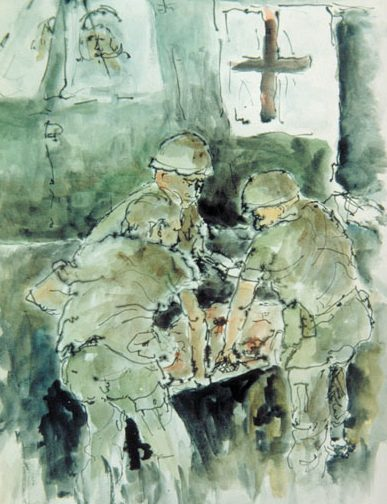 Vietnam Combat Art by James Pollock, 1967