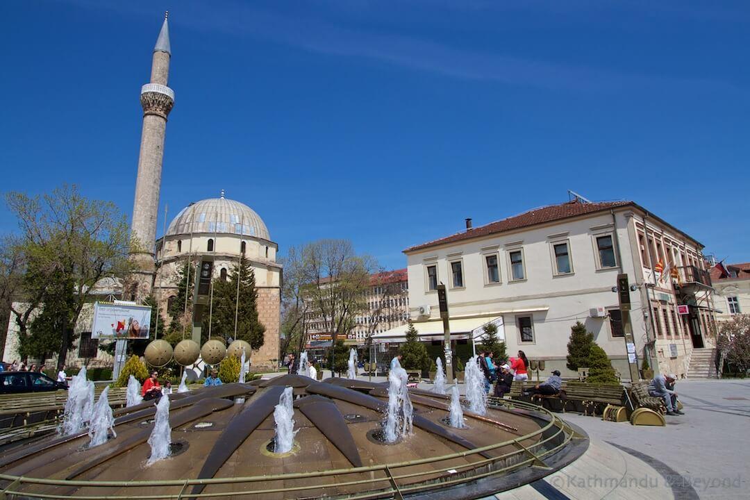 Vergina Sun fountain Magnolia Square Bitola Macedonia