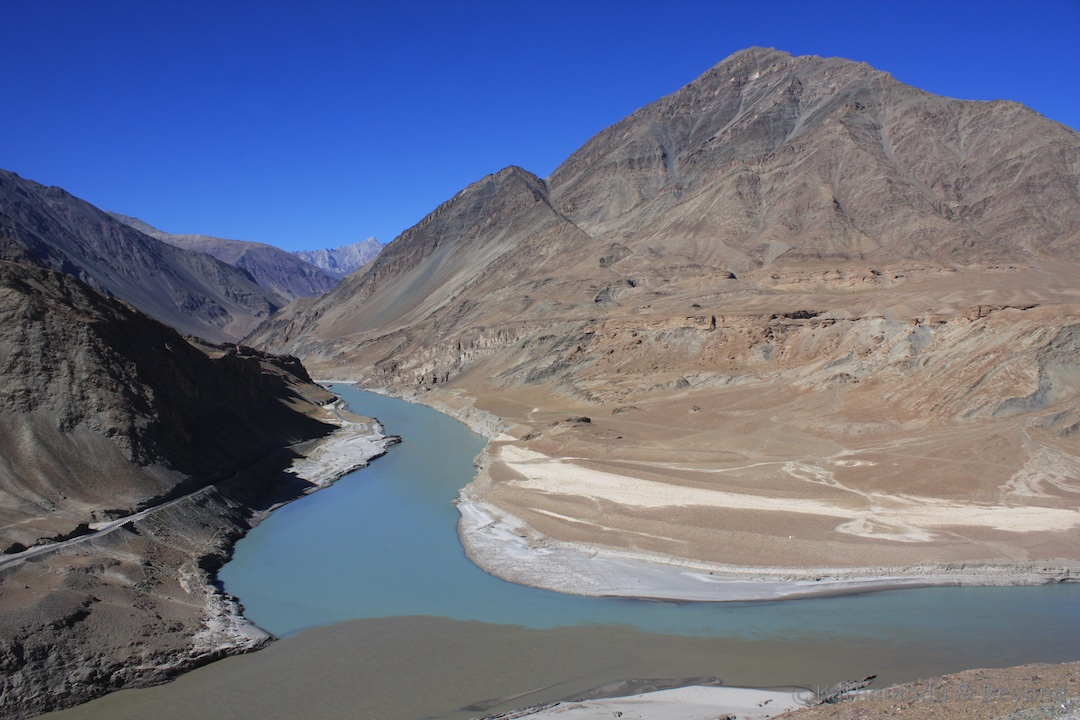 Indus and Zanskar Rivers Ladakh India 1