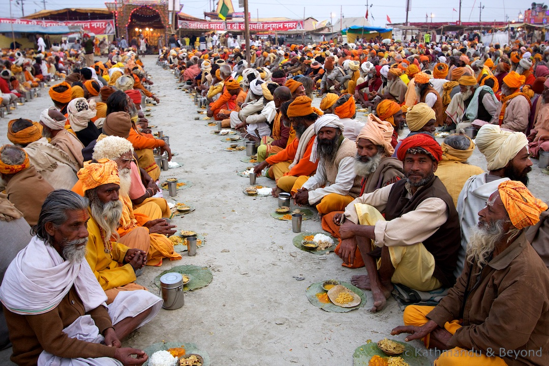 Pilgrims being fed on mass | Maha Kumbh Mela Sangam Allahabad India