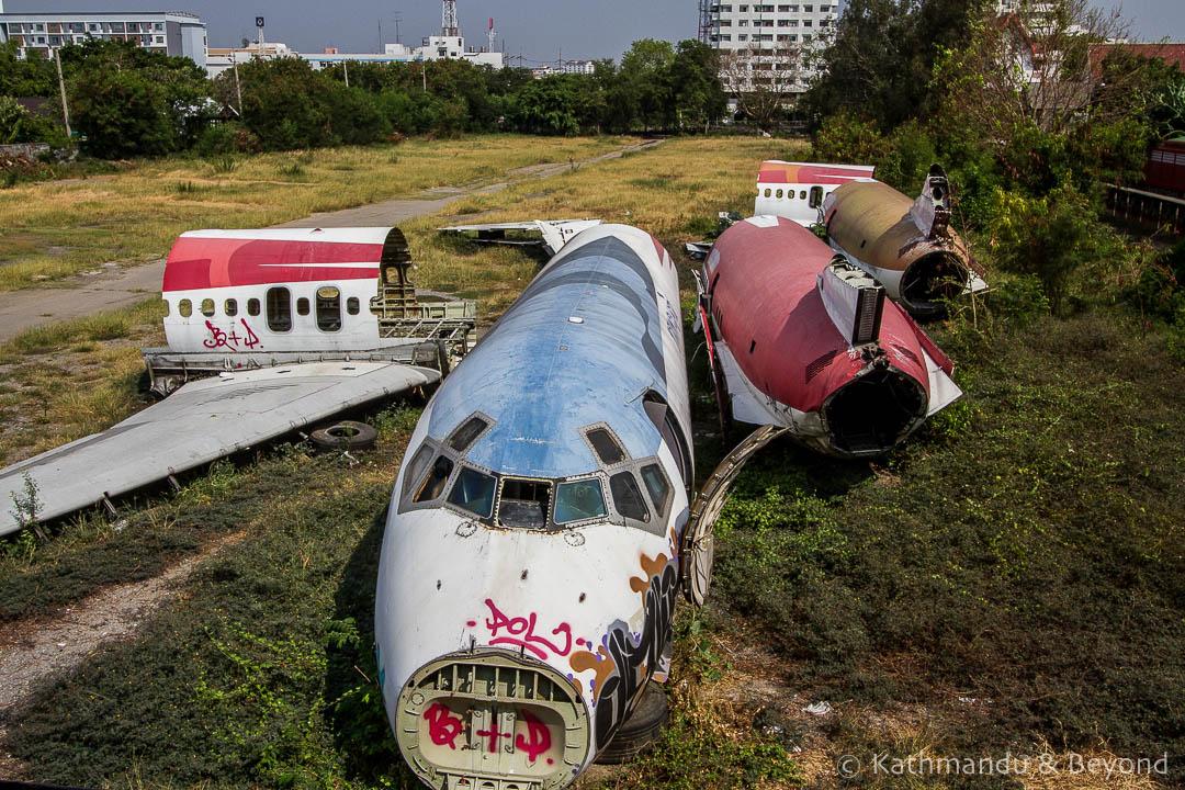 Airplane Graveyard Ramkhamhaeng Bangkok Thailand-32
