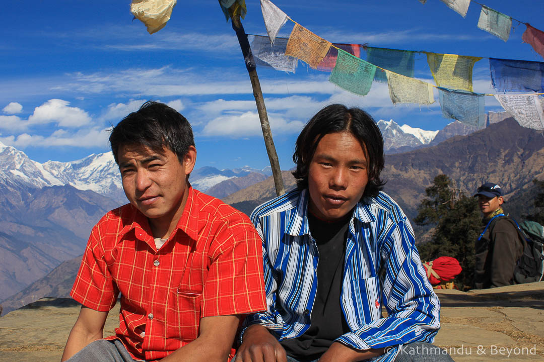 Annapurna region.Tadopani to Ghorepani 9. Kanchha and Santosh