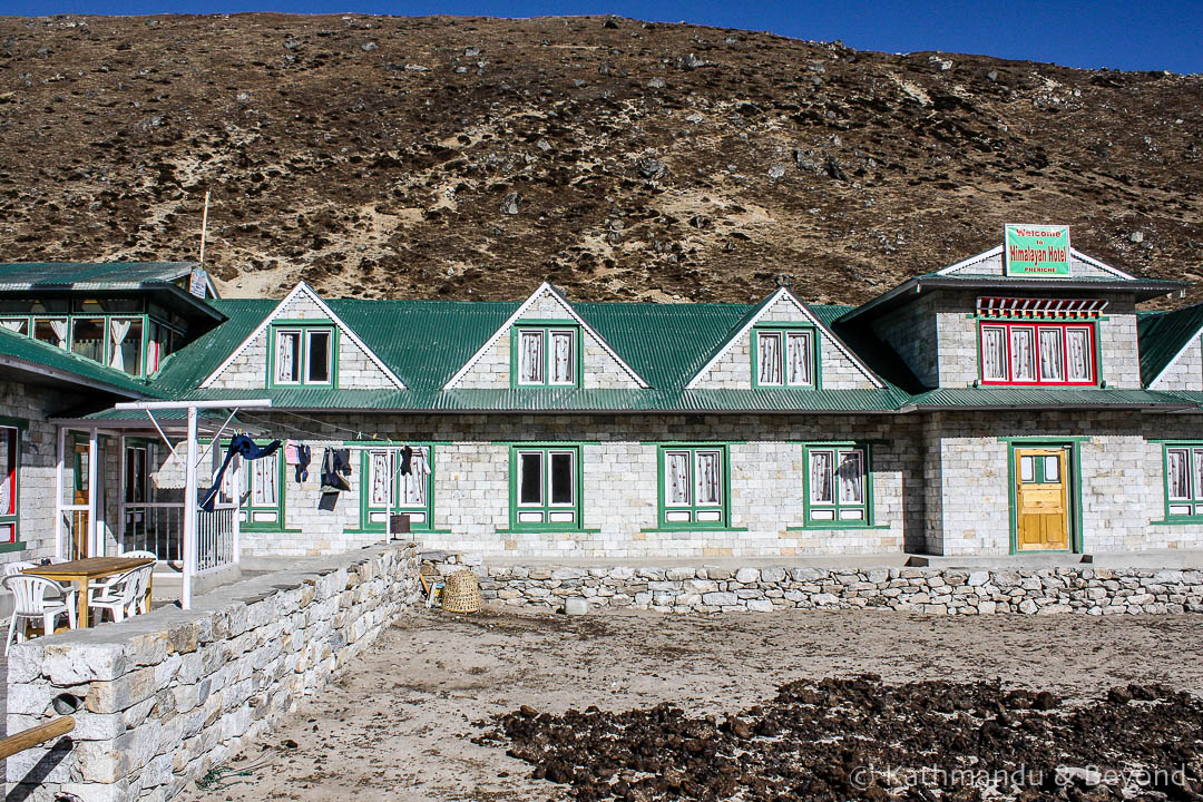 Everest Base Camp trek. New Himalayan Lodge Pheriche