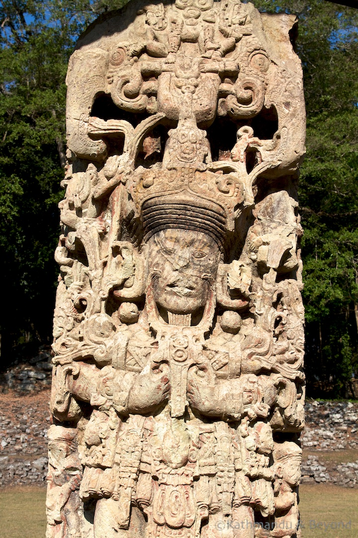 Stelea of the Great Plaza Copan Archaeological Site Honduras UNESCO
