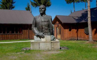 Llamas & Lenin at Grutas Park in Lithuania
