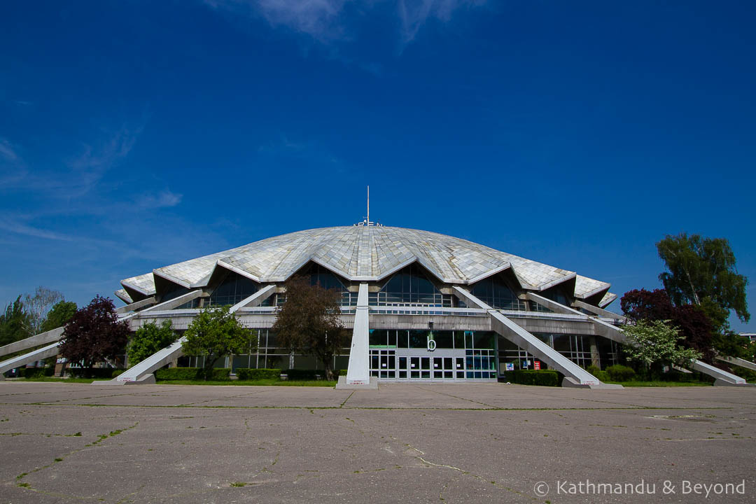 Arena Sports and Entertainment Hall (Hala widowiskowo-sportowa Arena/ Hala Arena) in Poznań, Poland | Modernist | Communist architecture | former Eastern Bloc