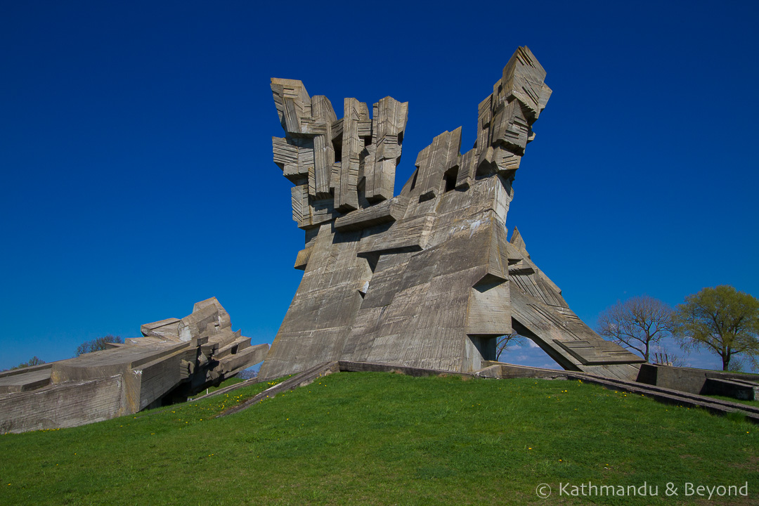Memorial to the Victims of Nazism (Memorial to the Victims of Fascism/Holocaust Memorial) in Kaunas, Lithuania | Brutalist | Soviet memorial | former USSR