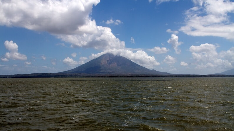 Travel Shot | Our first view of Concepcion volcano and Isla Ometepe, Nicaragua