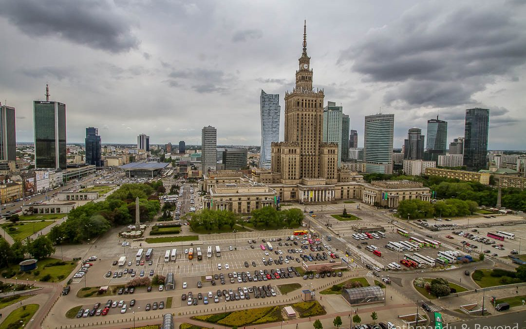 Travel Shot | View Across Warsaw | Poland