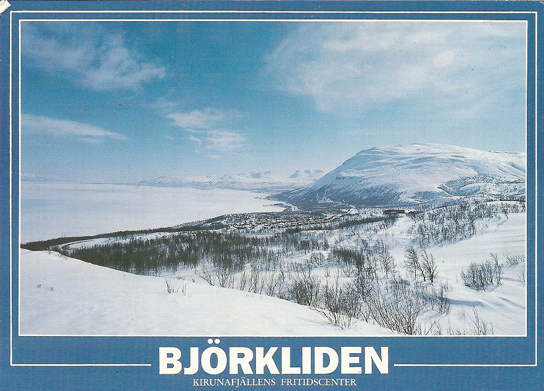 Postcard from Bjorkliden 7th April 1989