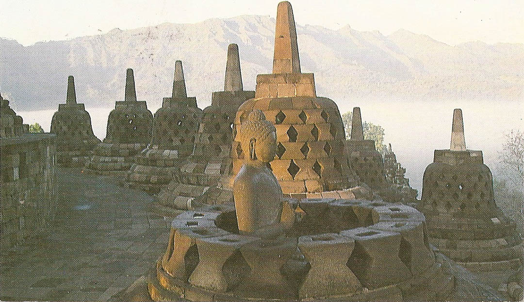 Postcard from Borobudur 17th May 1992