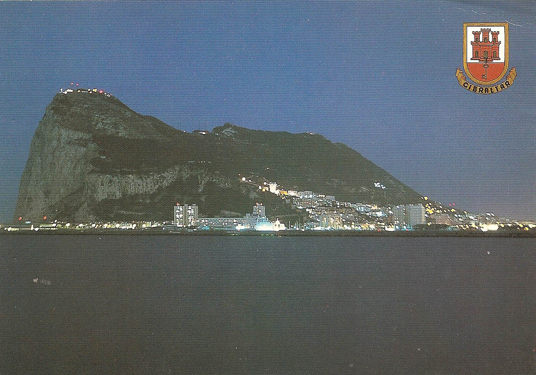 Postcard from Gibraltar 22nd December 1988
