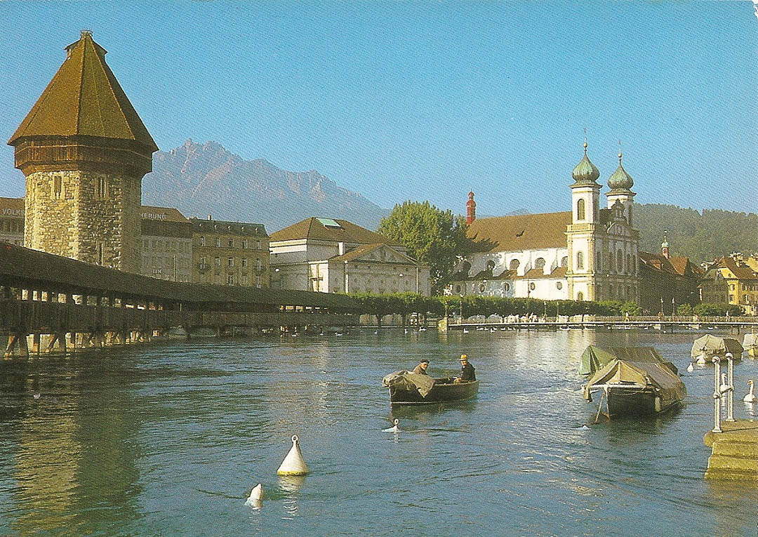 Postcard from Lucerne 14th April 1989
