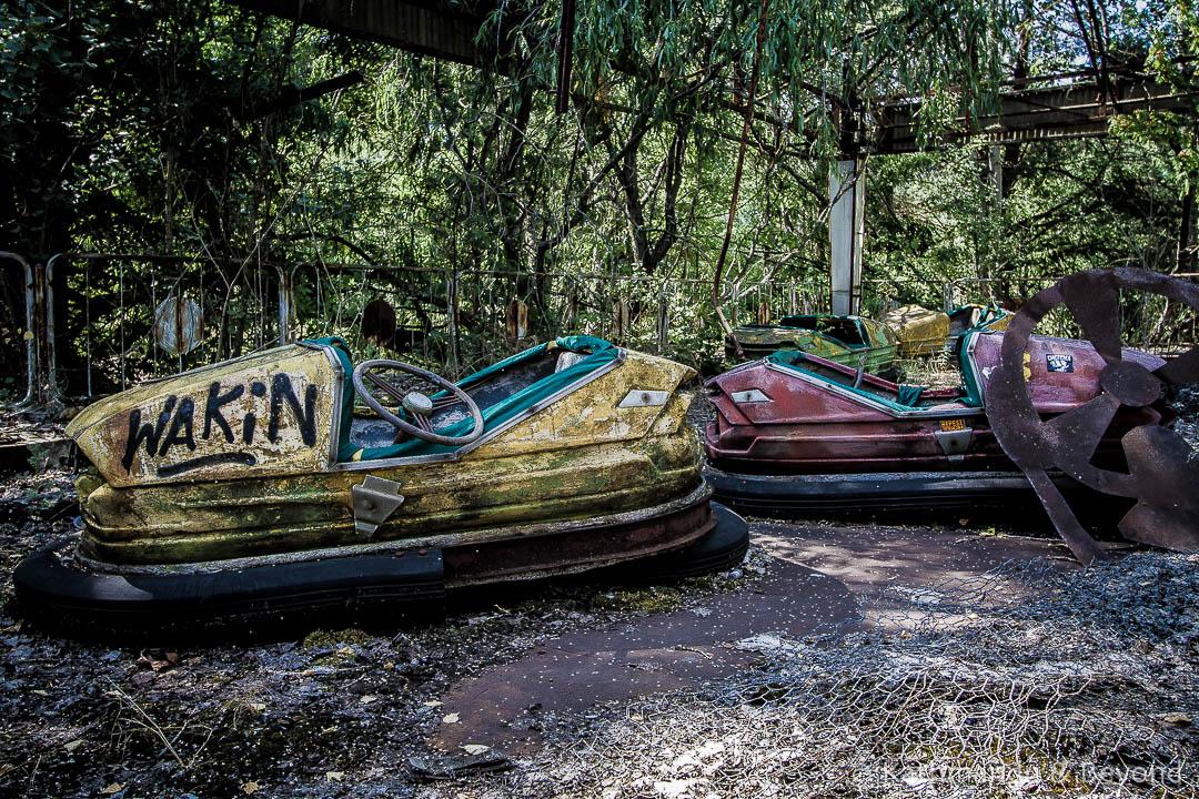 Amusement Park Pripyat town Chernobyl Exclusion Zone Ukraine-5