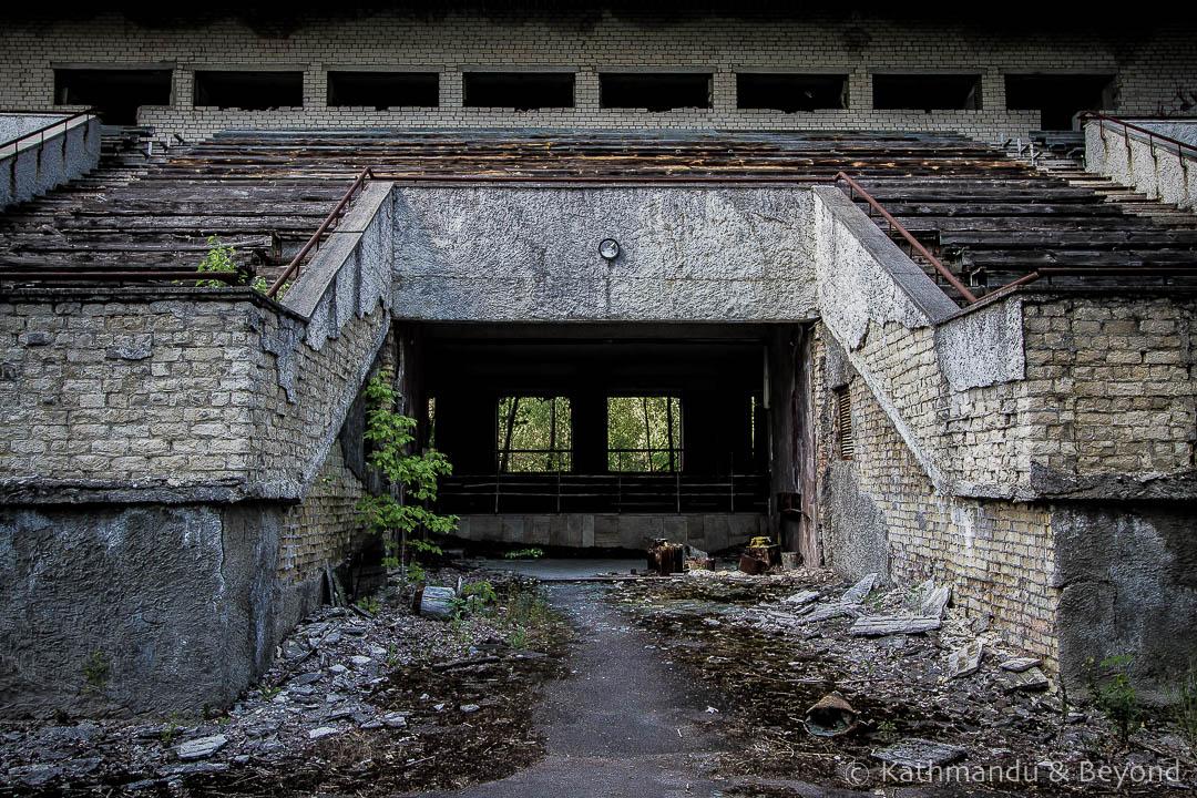 Avanhard Stadium Pripyat town Chernobyl Exclusion Zone Ukraine-1