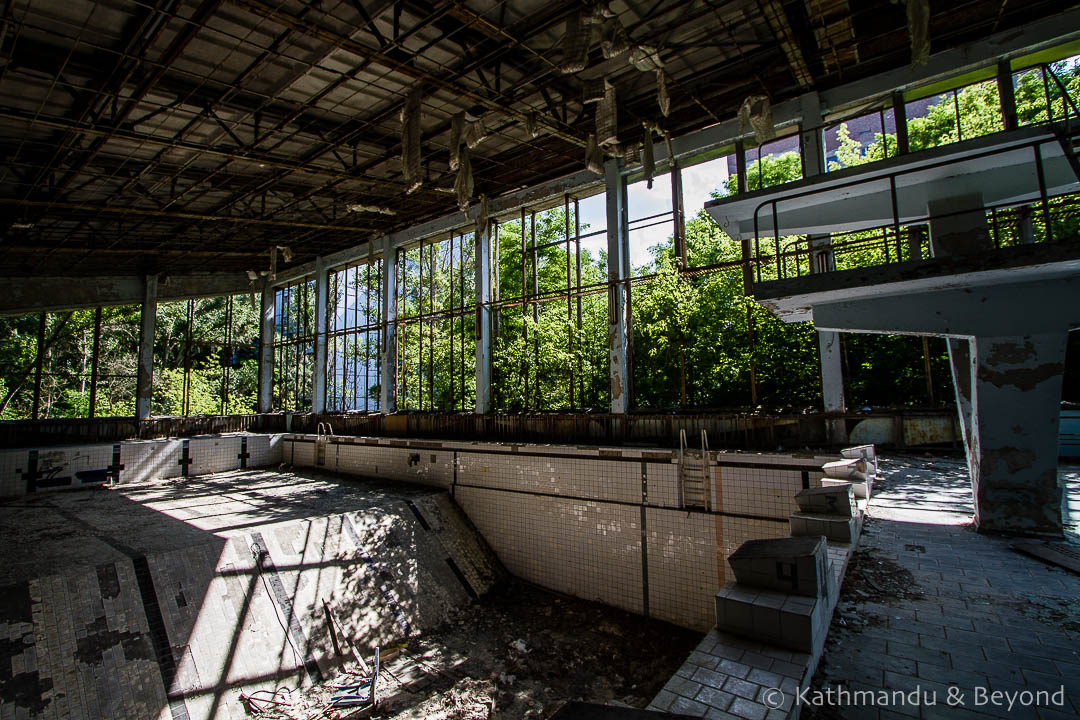 Azure Swimming Pool Recreation Centre Pripyat town Chernobyl Exclusion Zone Ukraine-11