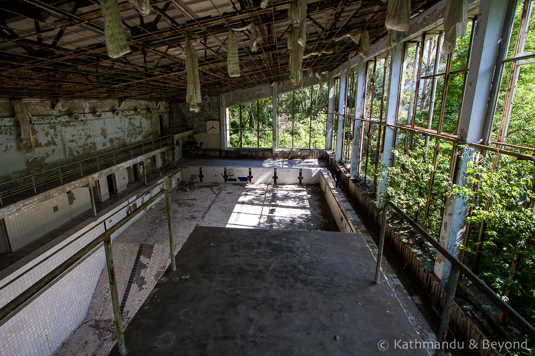 Azure Swimming Pool Recreation Centre Pripyat town Chernobyl Exclusion Zone Ukraine-8