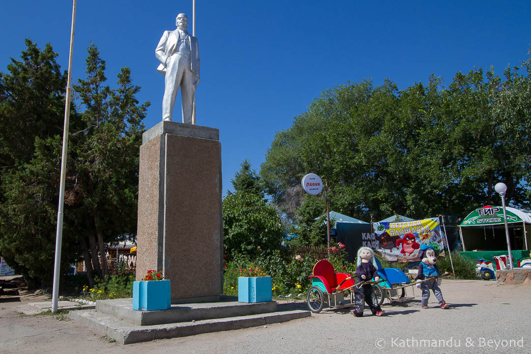 Monument to Vladimir Lenin in Cholpon-Ata, Kyrgyzstan   Soviet monument   former USSR