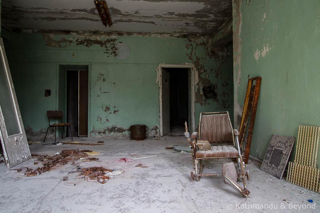 City Hospital No. 126 Pripyat town Chernobyl Exclusion Zone Ukraine-12