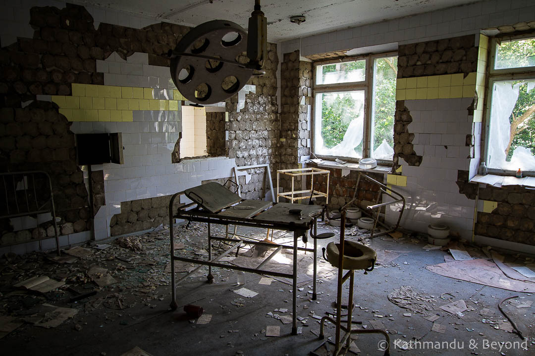 City Hospital No. 126 Pripyat town Chernobyl Exclusion Zone Ukraine-4