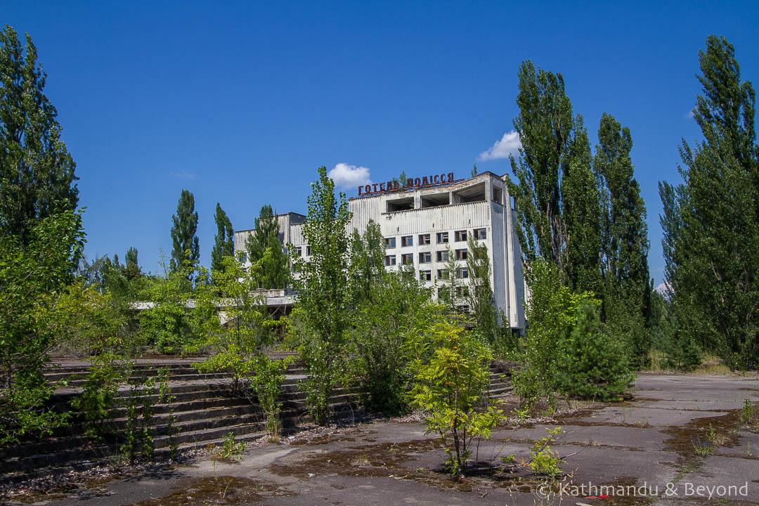 Hotel Polissia Pripyat town Chernobyl Exclusion Zone Ukraine-1