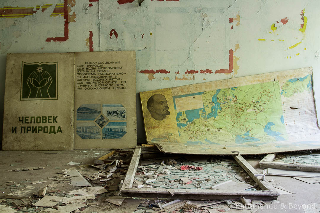Middle School Number 3 Pripyat town Chernobyl Exclusion Zone Ukraine-9