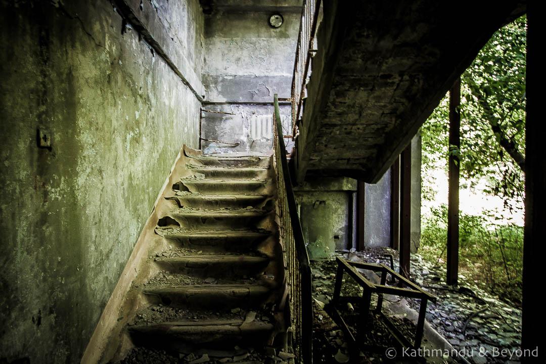 Recreation Centre Pripyat town Chernobyl Exclusion Zone Ukraine-2
