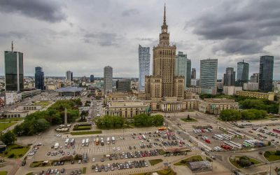 Travel Shot | View Across Warsaw | Poland