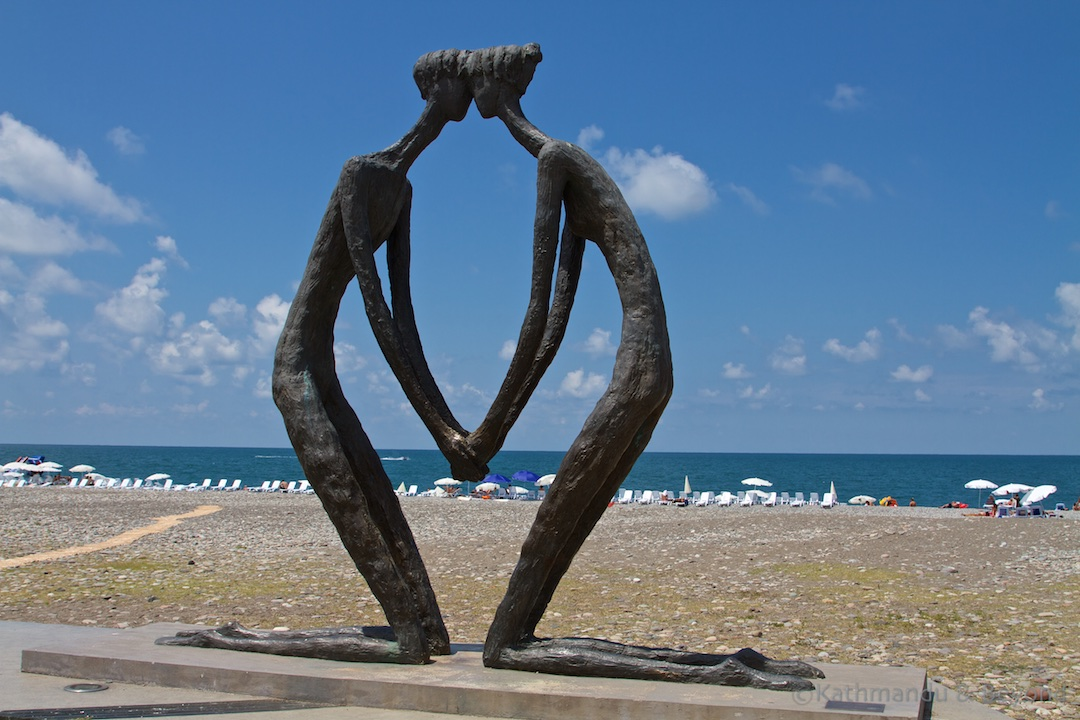 First Love statue Batumi Georgia