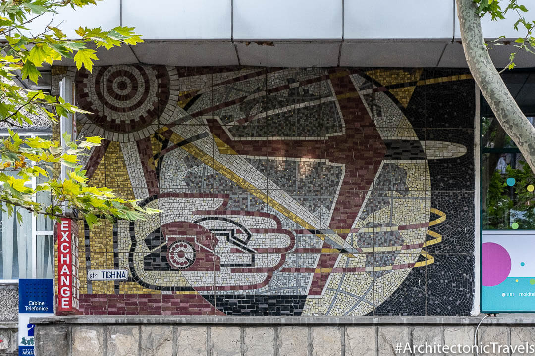 Moldtelecom (former Central Post Office) in Chisinau, Moldova | Mosaic | Soviet artwork |former USSR