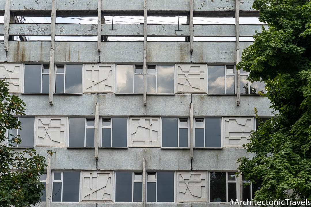 Gheorghe Asachi Theoretical High School (formerly No.1 Secondary School) in Chisinau, Moldova | Modernist | Soviet architecture | former USSR