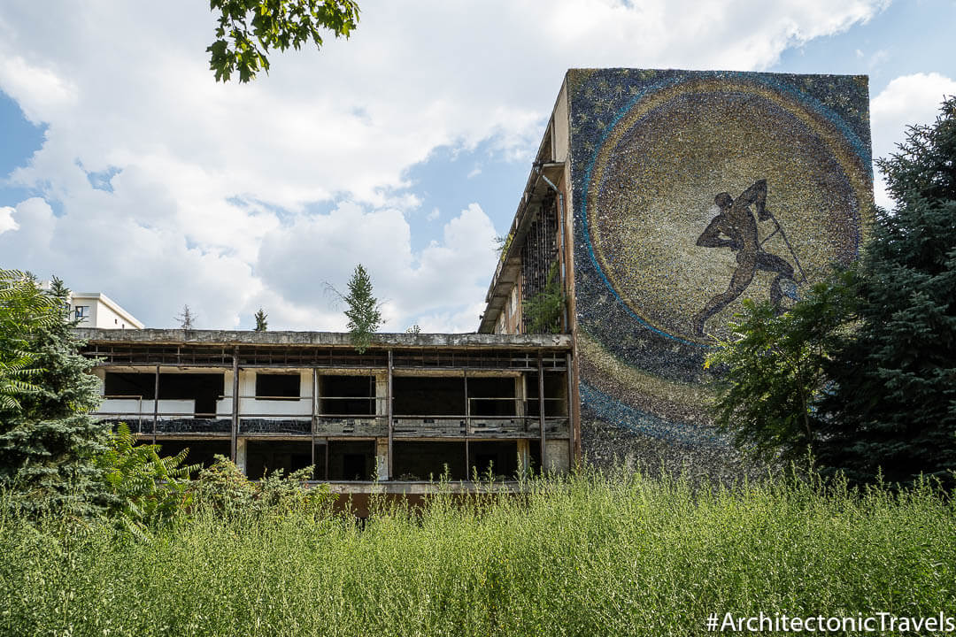 """""""Plowman of the Universe"""" (""""Glory to the Plowman""""), I.A. Gagarin Youth Centre Location in Chisinau, Moldova 