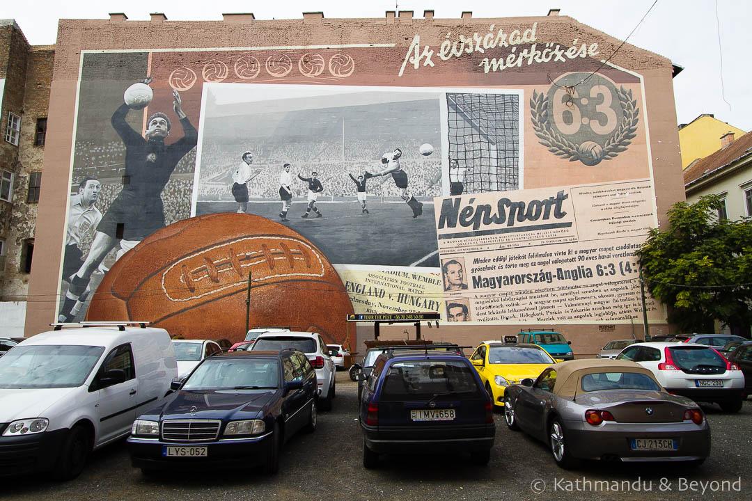 Match of the Century - Street Art in Budapest, Hungary