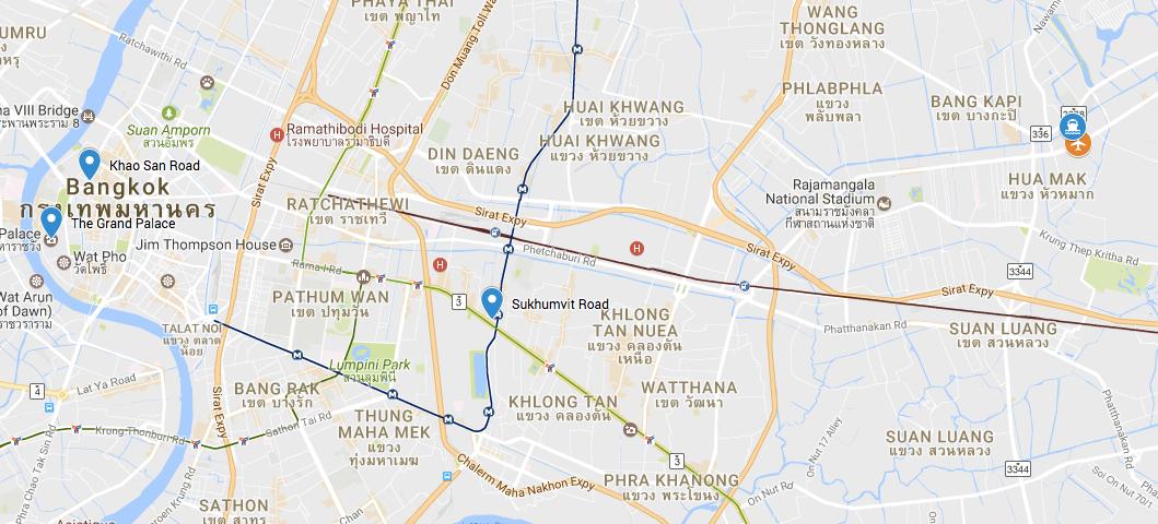 Location of Bangkok Airplane Graveyard