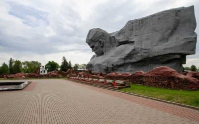 Visiting Brest Fortress in Belarus