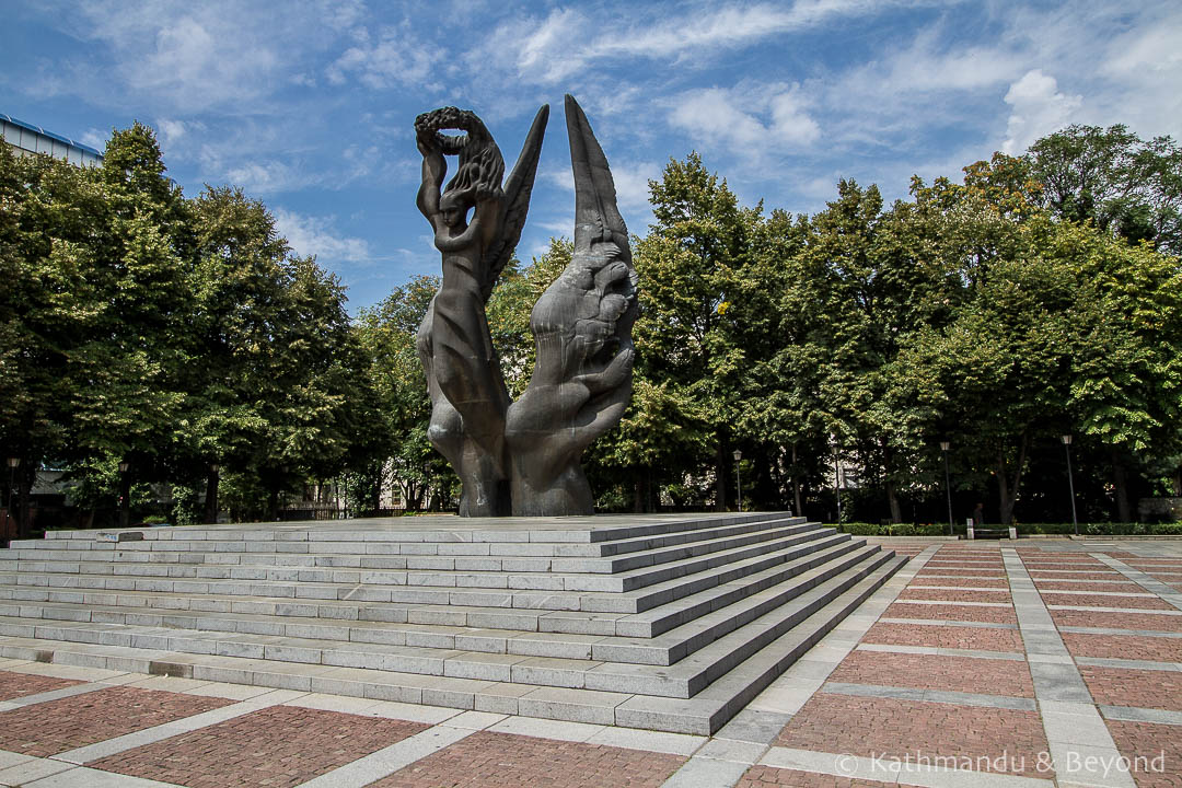 Monument to the Unification of Bulgaria in 1885 in Plovdiv, Bulgaria | Communist monument | former Eastern Bloc
