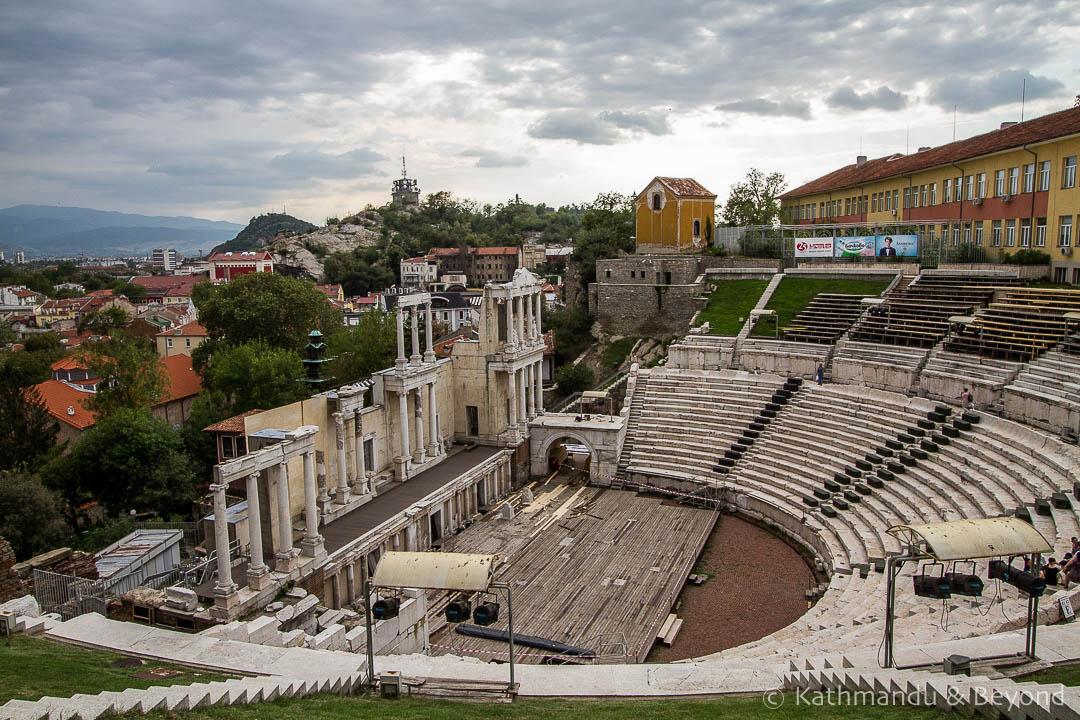 Roman Amphitheatre Old Town Plovdiv Bulgaria-2