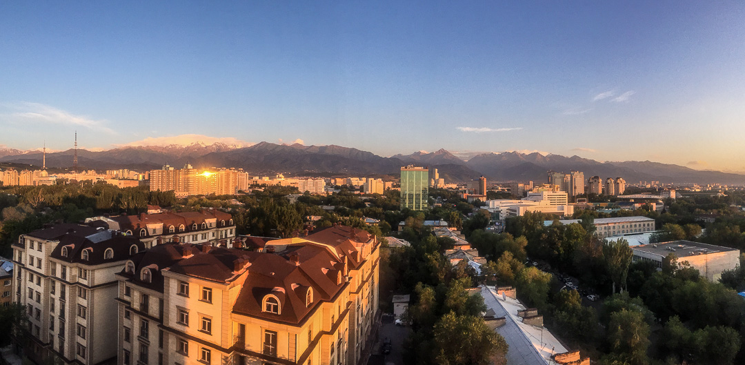 View from Sky Hostel Almaty Kazakhstan
