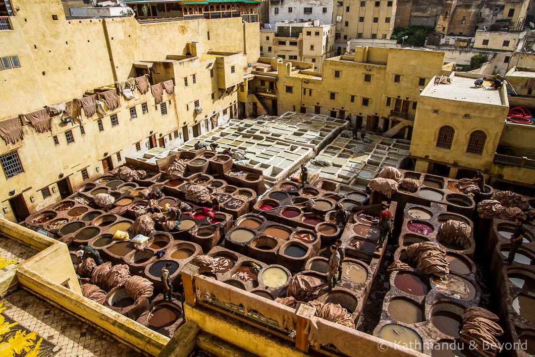 Chouara (Chaouwara) Tanneries Medina (Fes el Bali) Fez Morocco