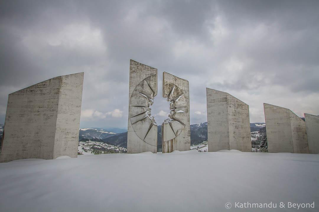 Kadinjača Memorial Complex in Užice, Serbia | Spomenik | Socialist memorial | former Yugoslavia