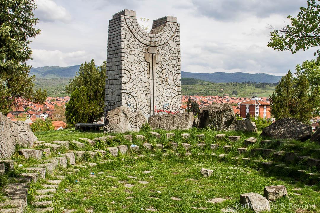 Monument to the Start of the Revolutionary Struggle (Old Cemetery) in Vlasotince, Serbia | Spomenik | Socialist monument | former Yugoslavia