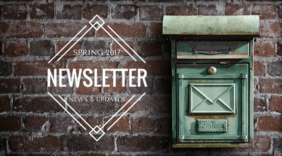 Spring 2017 Newsletter: The last three months and what's coming up