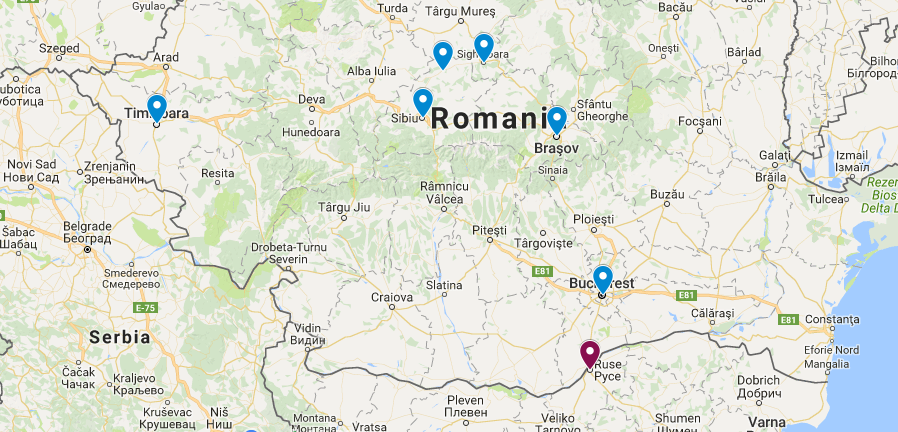 Impressions Of Romania A Guide For Independent Travellers - Romania in us map